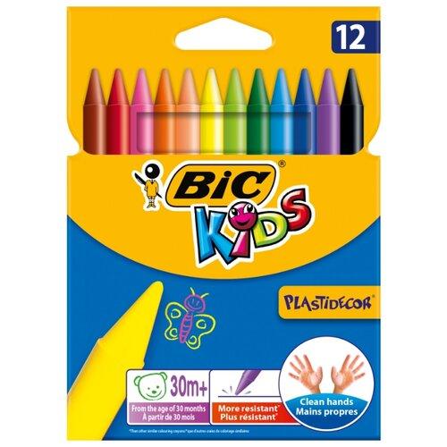 BIC Цветные мелки Plastidecor 12 цветов (945764) смазка chepark bic 100s 150ml