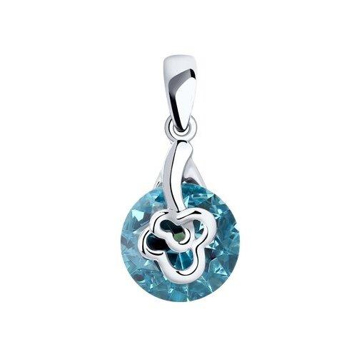 SOKOLOV Подвеска из серебра с голубым ситаллом 92030591