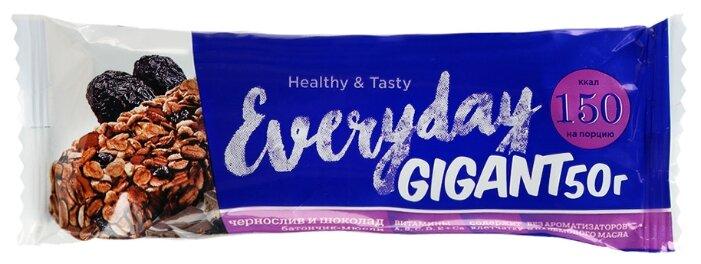 Ореховый батончик Everyday Granola с черносливом и шоколадом фрукты 50 г