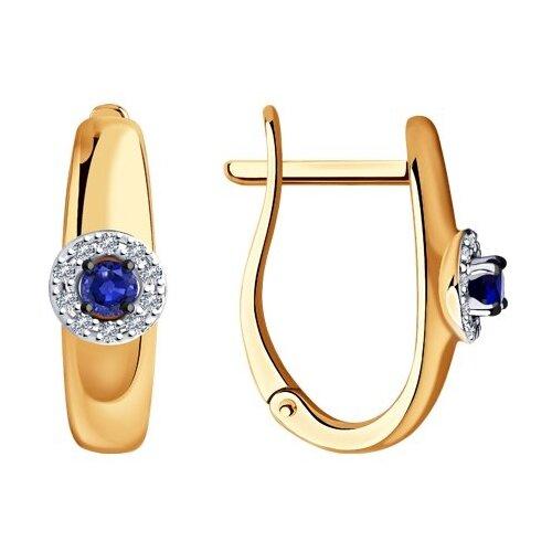 Diamant Серьги из золота с бриллиантами и сапфирами 51-220-00826-1 фото