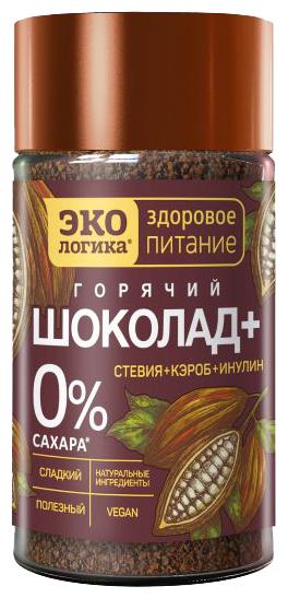 Экологика Горячий шоколад со стевией, кэробом и инулином, банка