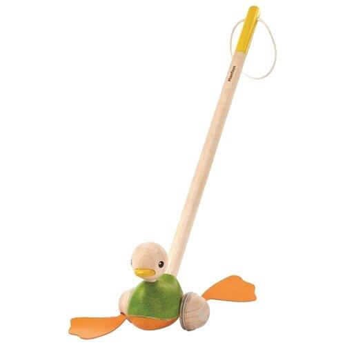 Купить Каталка-игрушка PlanToys Pull-Along Duck (5626) зеленый/оранжевый, Каталки и качалки