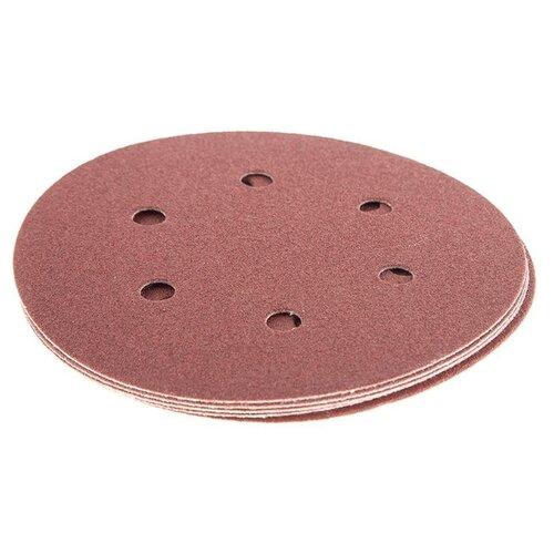 Шлифовальный круг на липучке Hammer 214-016 150 мм 5 шт шлифовальный круг на липучке hammer 214 011 125 мм 5 шт