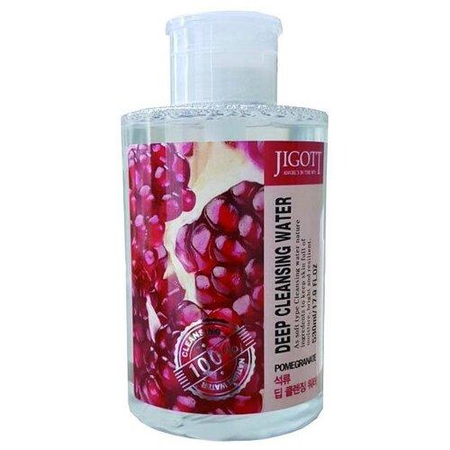 Jigott вода очищающая с экстрактом граната Deep Cleansing Water Pomegranate, 530 мл очищающая вода урьяж