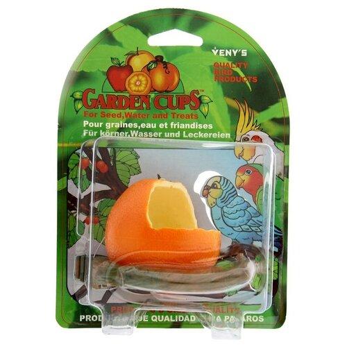 Кормушка Veny's Апельсин с жердочкой оранжевый