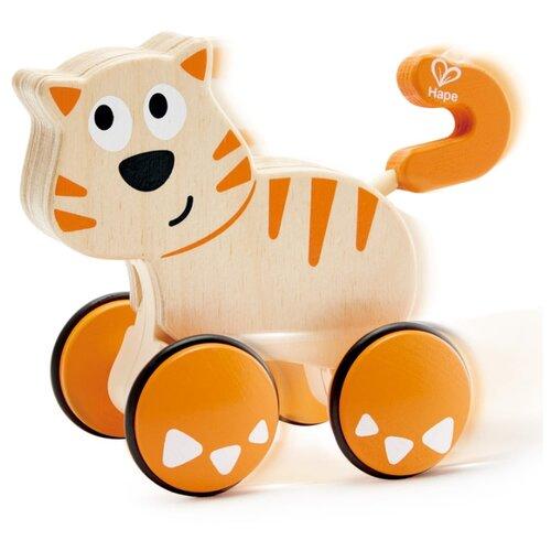 Купить Каталка-игрушка Hape Dante Push And Go (E0363) бежевый/оранжевый, Каталки и качалки