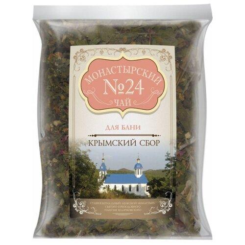 Фото - Чай травяной Крымский чай Монастырский № 24 Для бани, 100 г чай травяной aroma монастырский 100 г