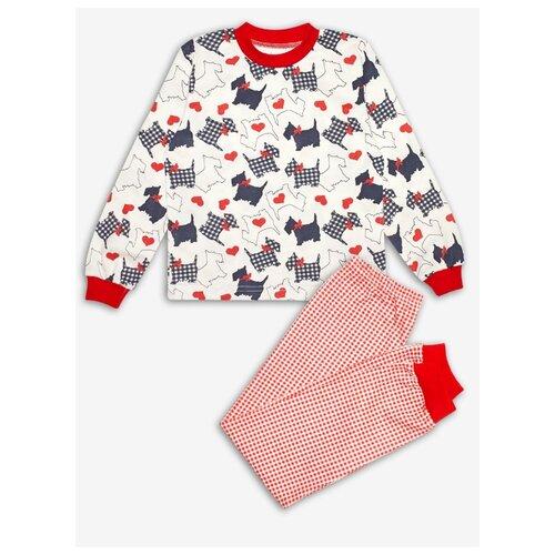 Пижама Веселый Малыш размер 92, разноцветный