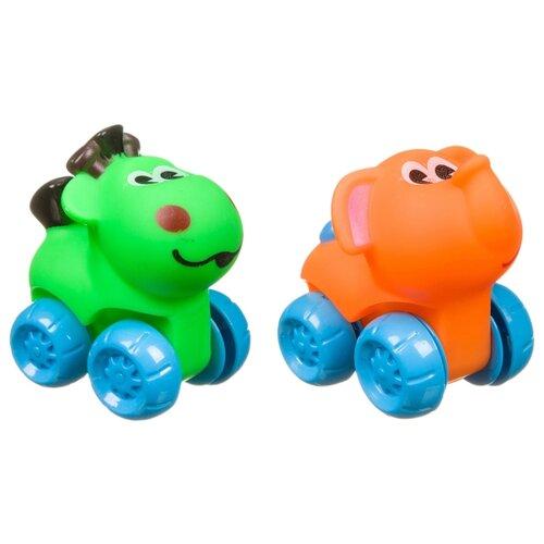 развивающая игрушка bondibon автомобиль корабль разноцветный Развивающая игрушка BONDIBON Baby You Лошадка и слон ВВ3422 зеленый/оранжевый/голубой