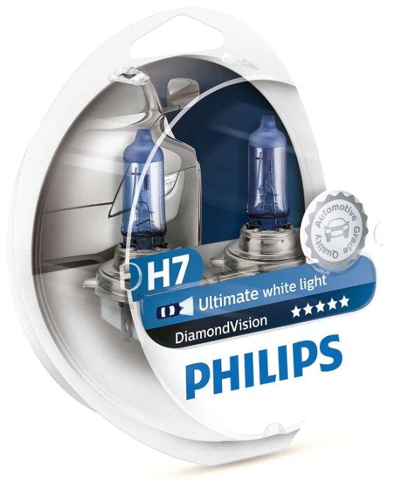 Лампа 12v H7 55w Philips Diamond Vision Комплект Duobox 12972dvs2 Philips арт. 12972DVS2