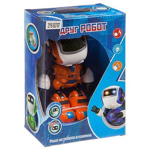 Купить Робот на бат. Друг Робот из мет. и пластика, с подсветкой, озвуч., ВОХ15х10х5, 5 см, 2 вида, арт. Z, Zhorya, Роботы и трансформеры