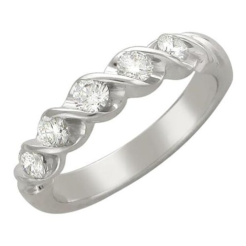 Эстет Кольцо с 5 фианитами из серебра 01К155605, размер 17 эстет кольцо с фианитами из серебра 01к2511684 2 размер 17 5