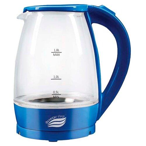 Чайник Великие реки Дон-1, синий чайник электрический великие реки дон 1 1850вт белый