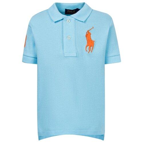 Купить Поло Ralph Lauren размер 122, голубой, Футболки и майки