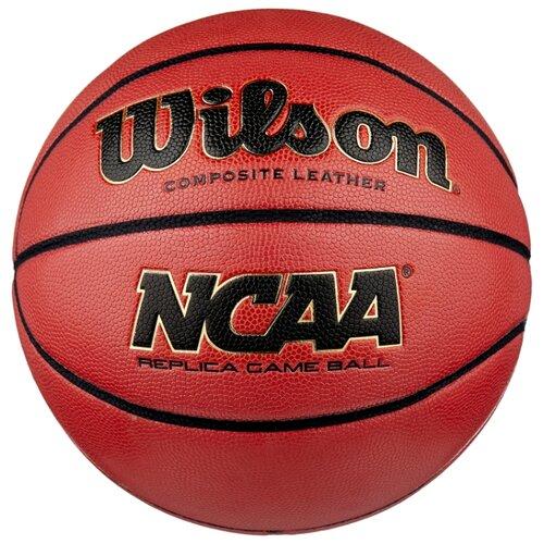Баскетбольный мяч Wilson NCAA Replica Comp Defl WTB0730XDEF, р. 7 коричневый