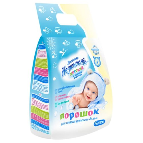 Стиральный порошок Весенняя нежность Детский пластиковый пакет 2.4 кг стиральный порошок умка детский мыльный пластиковый пакет 4 кг