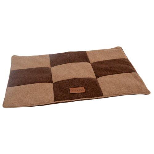 Лежак для собак и кошек Katsu Kern M 85х65х5 см коричневый/бежевый лежак для кошек для собак зоо фортуна чай 2 м 271 80х50х8 см бежевый коричневый