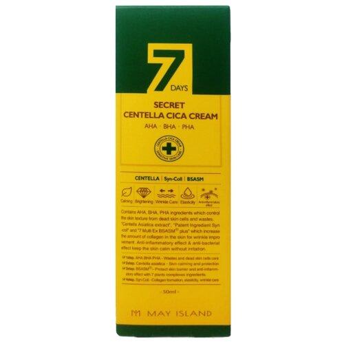 Купить MAY ISLAND крем для проблемной кожи 7 Days Secret Centella Cica Сream с AHA/BHA/PHA кислотами и центеллой азиатской, 50 мл