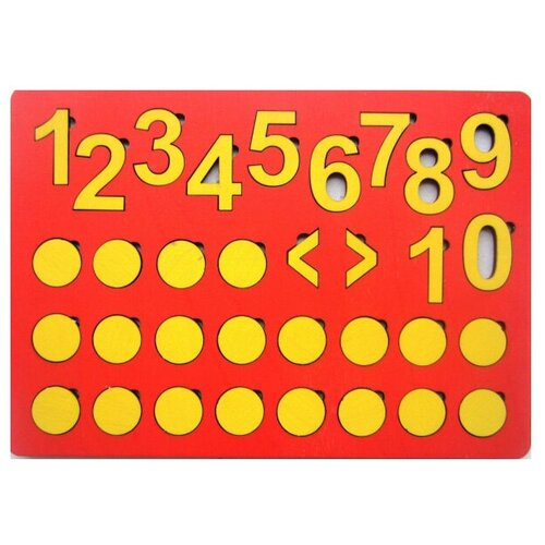 Купить Набор цифр SmileDecor Кружки и цифры (красный), Обучающие материалы и авторские методики