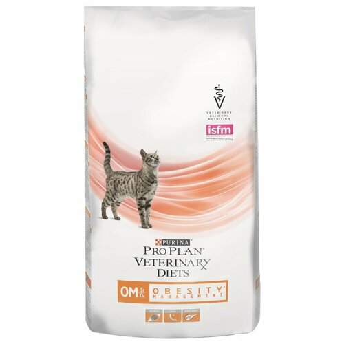 Фото - Корм для кошек Pro Plan Veterinary Diets (1.5 кг) Feline OM Obesity (Overweight) Management dry корм для кошек pro plan veterinary diets feline en gastrointestinal canned 0 195 кг 24 шт