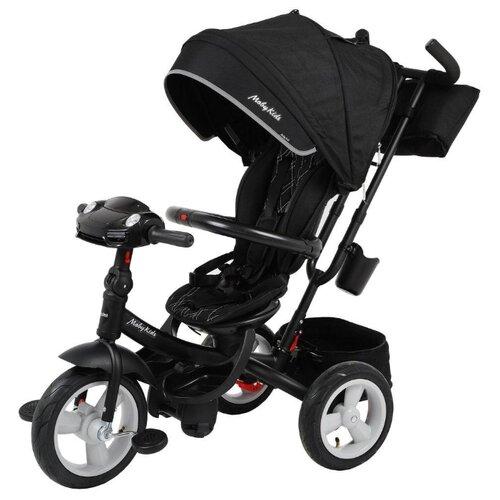 Трехколесный велосипед Moby Kids New 360° 12x10 AIR Car черный велосипед трехколесный funny scoo volt air ms 0576 фиолетовый