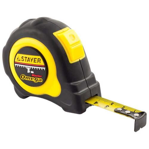 Измерительная рулетка STAYER 3402-3 16 мм x 3 м рулетка topex 27c343 19 мм x 3 м