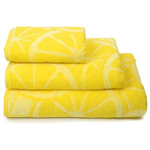 Полотенце махровое ДМ Люкс Lemon color70Х130см. цвет:жёлтый