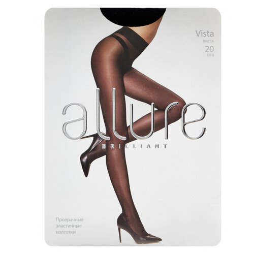 Колготки ALLURE Brilliant Vista, 20 den, размер 2, nero (черный)