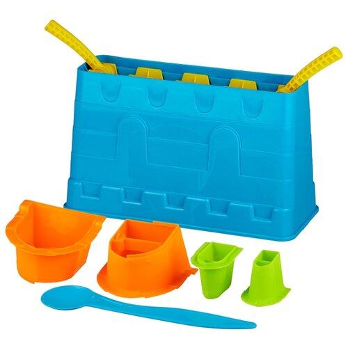 Купить Набор 1 TOY Снежные забавы Крепость Т13993 голубой/оранжевый/зеленый/желтый, Наборы в песочницу