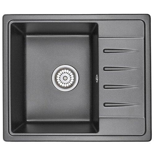 Фото - Врезная кухонная мойка 58 см Granula 5803 черный врезная кухонная мойка 57 5 см granula 5802 антик