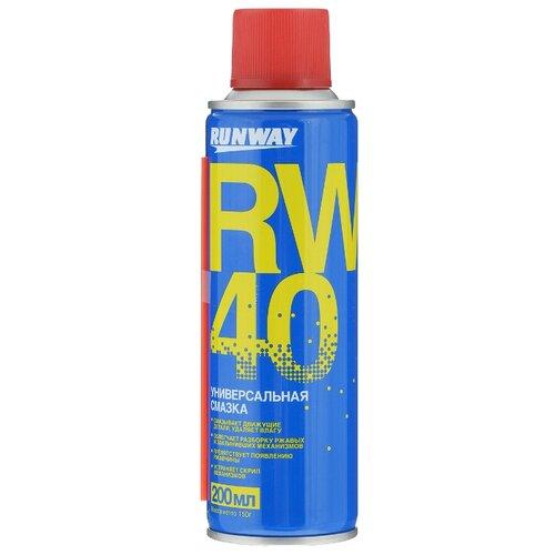 Автомобильная смазка RUNWAY RW-40 0.2 л cd rw диск intro сd rw 4x 12x 700mb cakebox