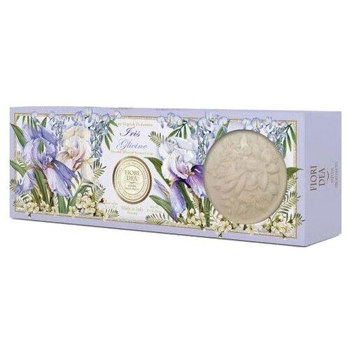 Мыло кусковое Fiori Dea Iris e glicine, 3 шт., 125 г fiori dea бальзам для губ sweet