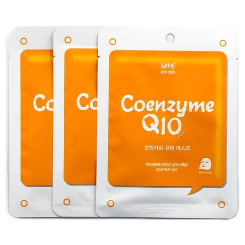 MIJIN Cosmetics тканевая маска с коэнзимом MJ Care On Coenzyme Q10, 22 г, 3 шт.