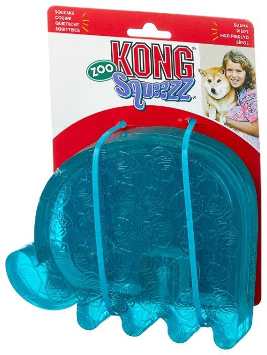 Игрушка для собак KONG Squeezz ZOO Слон большой (PV21E)