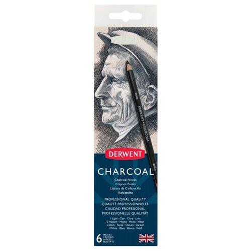 Купить Derwent Набор угольных карандашей Charcoal с точилкой (0700838), Наборы для рисования