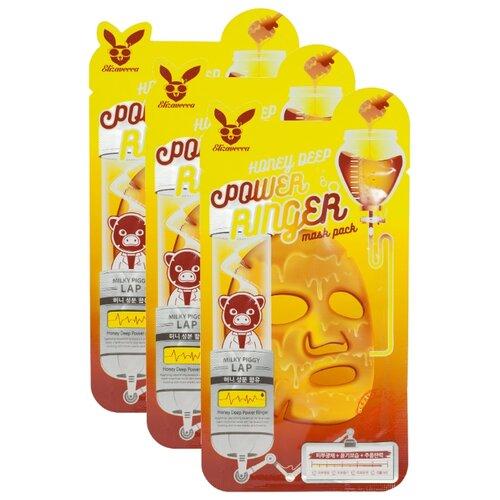 Elizavecca питательная тканевая маска с экстрактом мёда Honey Deep Power Ringer Mask Pack, 23 мл, 3 шт. недорого