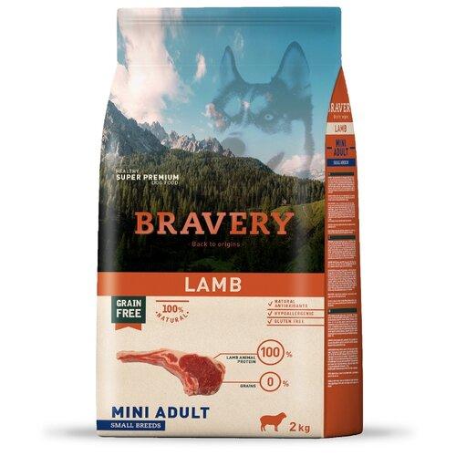 Сухой корм для собак Bravery ягненок 2 кг (для мелких пород)