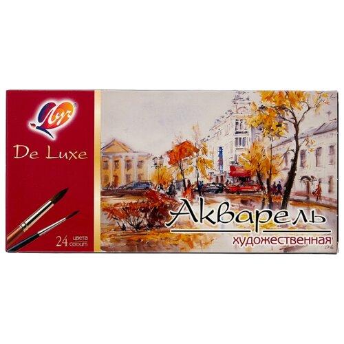 Купить Луч Акварельные краски De lux 24 цвета, без кисти (14С 1039-08), Краски
