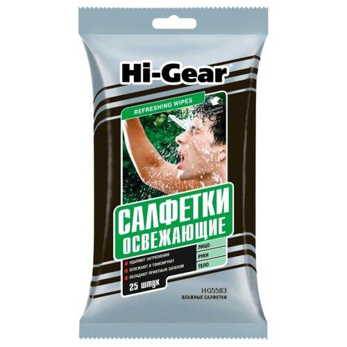 Фото - Влажные салфетки Hi-Gear Освежающие, 25 шт. top gear влажные салфетки для