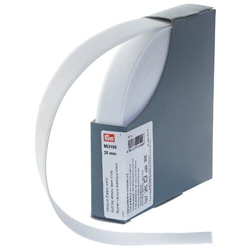 Купить Prym Велюровая эластичная лента (953158), белый 2.5 см х 10 м, Технические ленты и тесьма