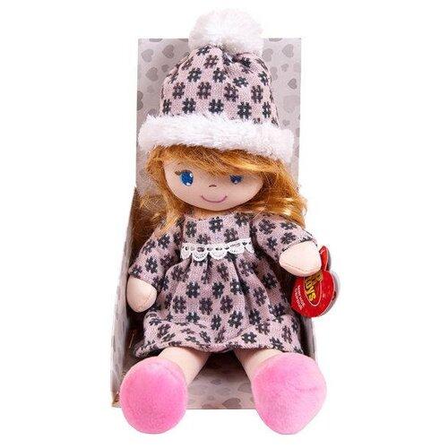 Фото - Мягкая игрушка ABtoys Кукла Кукла мягконабивная в шапочке и фетровом платье 36 см мягкая игрушка abtoys кукла рыжая в голубом платье 20 см