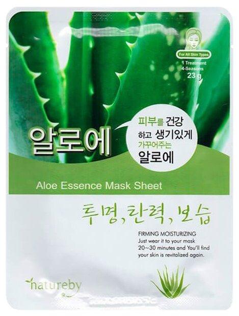 Natureby Aloe Essence Mask Sheet тканевая маска с экстрактом алоэ