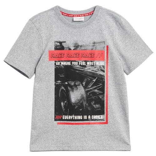 Футболка COCCODRILLO размер 146, серый футболка cherubino caj 61374 серый р 146