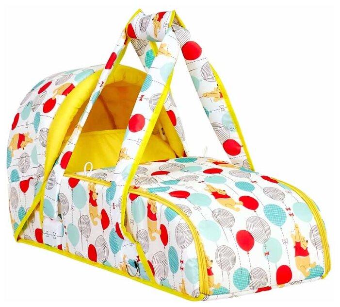 Переносная люлька-кокон Polini kids Disney baby Медвежонок Винни «Чудесный день», желтый
