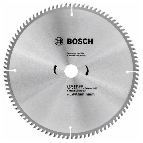 Пильный диск BOSCH Eco for Aluminium 2608644396 305х30 мм диск пильный bosch 2609256812 170x20 16 24 stand