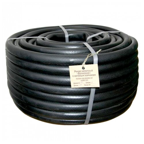 цена на Шланг ГИДРОАГРЕГАТ поливочный резиновый кордовый Волжский эконом 16 мм 50 метров черный