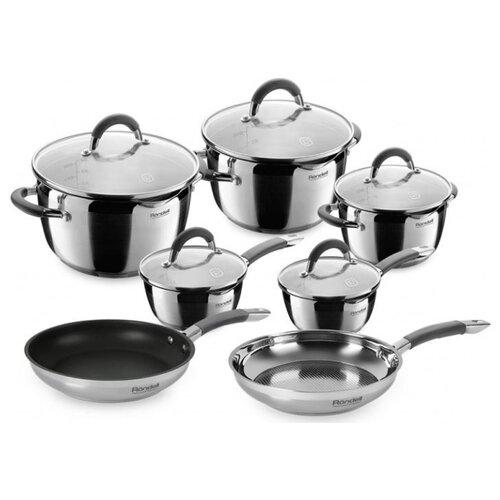 Набор посуды Rondell Flamme RDS-1187 12 пр. серебристый