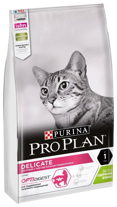 Корм для кошек Pro Plan Delicate при чувствительном пищеварении, с ягненком 7 кг — цены на Яндекс.Маркете
