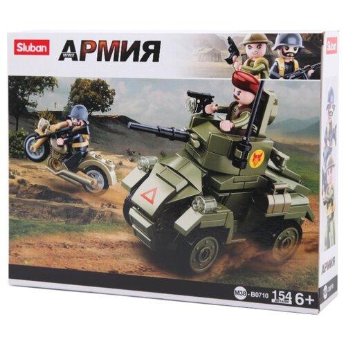 Конструктор SLUBAN WW2 M38-B0710 Бронетранспорт конструктор sluban армейский грузовик m38 b0301 230 элементов