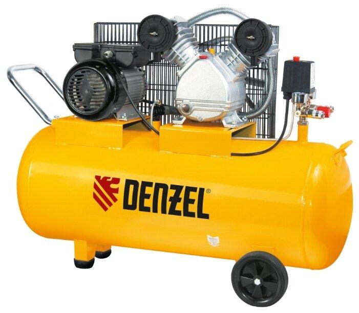 Компрессор масляный Denzel PC 2/100-370, 100 л, 2.2 кВт